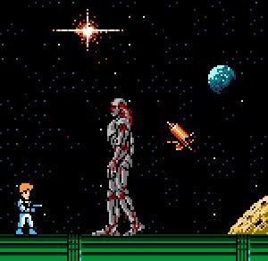 The final boss in Journey To Silius (aka the Terminator Endoskeleton)