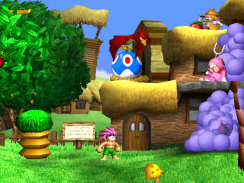 The first level of Tomba.