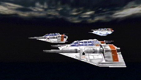 A group of Snowspeeders preparing to make an air-to-ground assault.