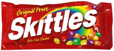 A picture of Skittles