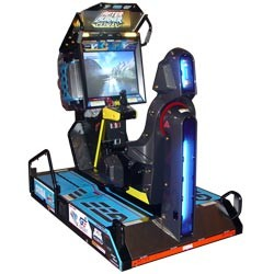The specially designed After Burner Climax cabinet.