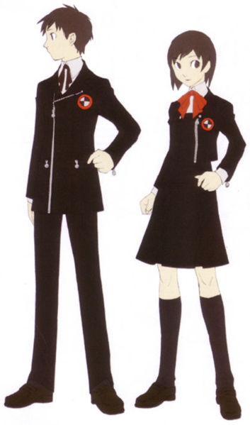 The Gekkoukan High School official uniform.