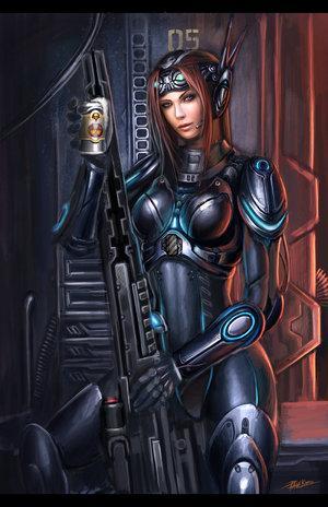 Sarah Kerrigan as a Ghost operative.