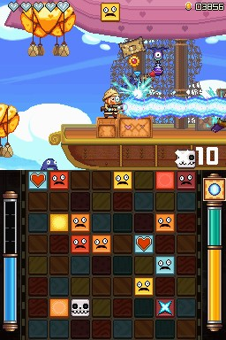A screenshot showing both kinds of gameplay.