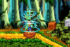 Crash activates a Bonus zone.