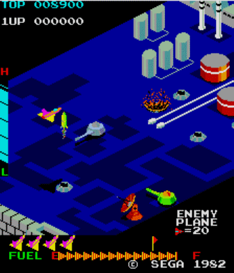 Zaxxon was a very popular arcade title.