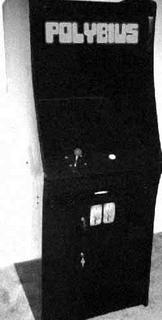 Purported image of a Polybius arcade cabinet.