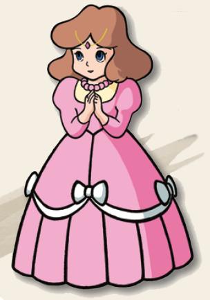 Illustration of Princess Zelda for the original The Legend of Zelda.