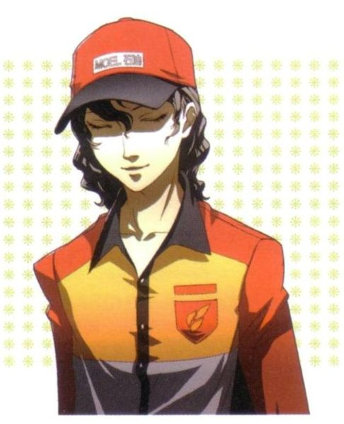 Izanami disguised as a gas station attendant.