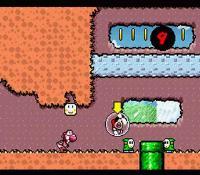 Yoshi scrambling to get baby Mario back.