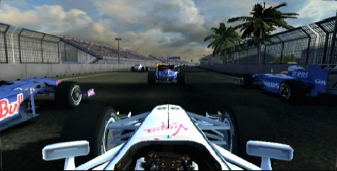 The obligatory In-Car view is supported to enhance immersion. Shown here is the Brawn GP of Jenson Button