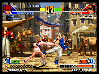 Both types of Desperation Move gauges are available in KOF '98