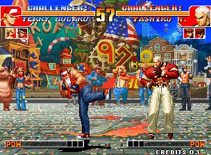KOF '97 in action.