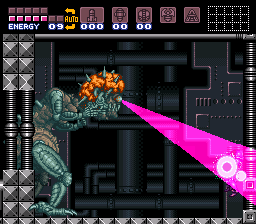 Mother Brain's final form in Super Metroid