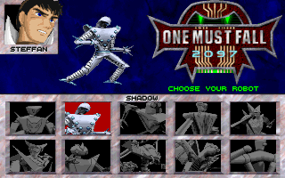 The Robot Selection Screen