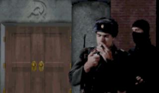 Frank Klepacki as a Soviet soldier.