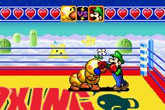 Luigi gets pummeled.