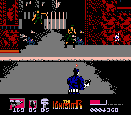 The Punisher for the NES is a behind-the-back rail shooter.