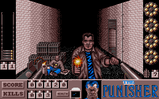 A first-person shooting area from the Atari ST version.