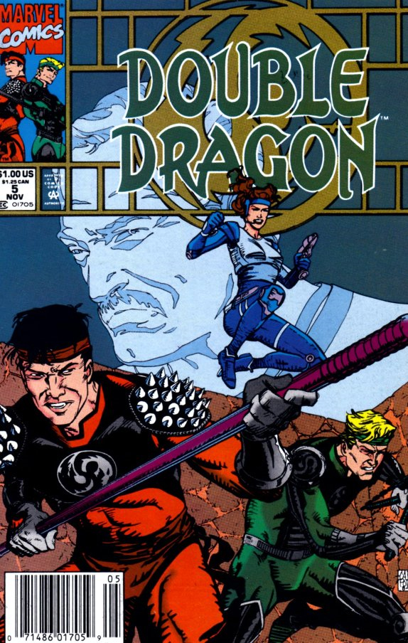 The fifth issue of the Double Dragon comic book.