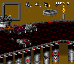 A screenshot of the Super Nintendo version of the game