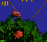 A screenshot from the Game Boy Color version