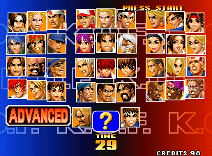 KOF '98 offers more characters than you'll know what to do with.