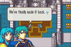 Eirika and Ephraim, the central protagonists of The Sacred Stones.