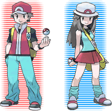The male and female playable characters.
