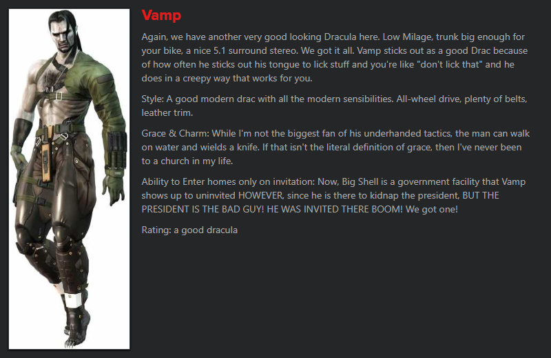 Hey, Giant Bomb community, does Vamp actually count as a vampire?