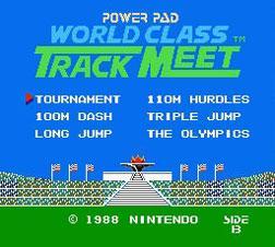 The World Class Track Meet title screen
