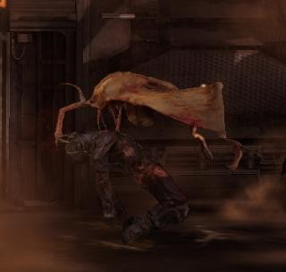 An Infector prepares to transform a corpse.