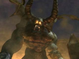 True Ogre during his Tekken 3 ending cinematic