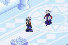 Riku confronted by the Replica Riku