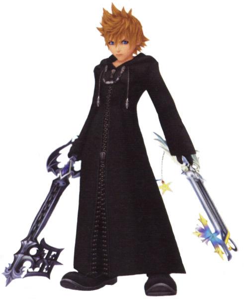 Roxas wielding his two keyblades