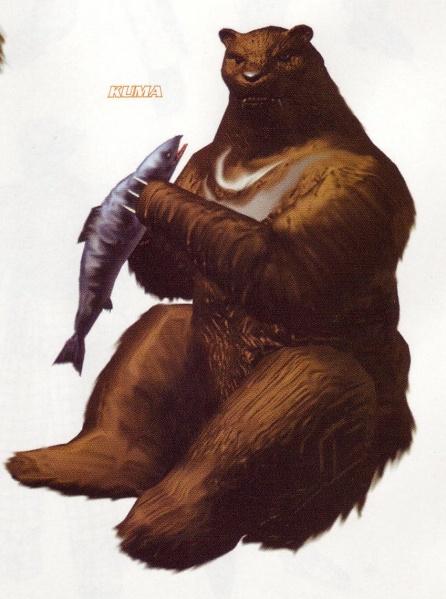 Kuma, Heihachi's pet bear and bodyguard
