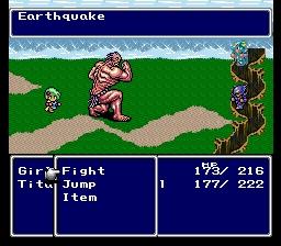 Rydia summons Titan and seals Mist Valley