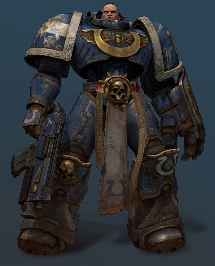 Concept render for a Space Marine