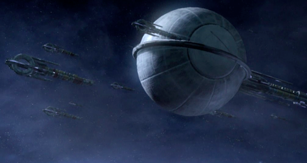 The Quarian Liveship is the big backward snail looking thing. On the front lines.