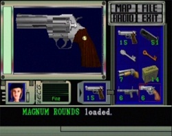 Jill Valentine's inventory screen