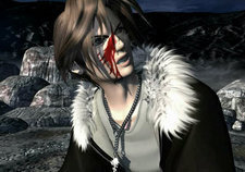 Squall, given the wound that would become a prominent scar.