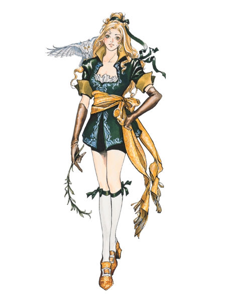 Maria's appearance in Castlevania: Symphony of the Night.