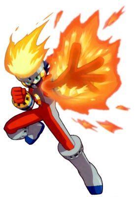 MegaMan's FireSoul form.