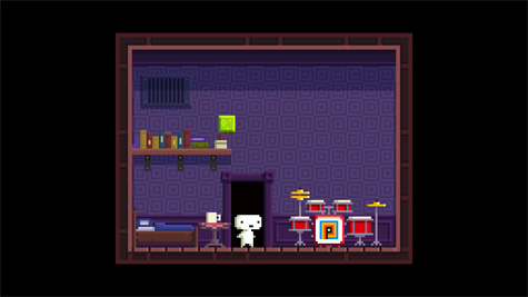 Gomez's room in 2D.