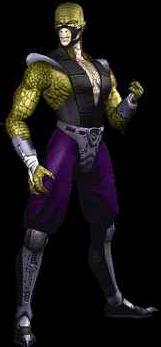 Reptile's appearance in Mortal Kombat 4.