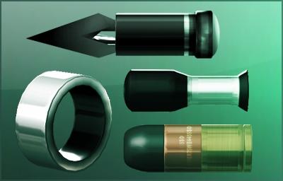 Clockwise from left: Airfoil, Gas, Sticky Shocker, Sticky Cam