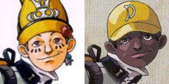 Masao from the Japan release (left), Mark from the North America release (right)