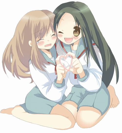 Fan Art of Asahina with her friend Tsuruya