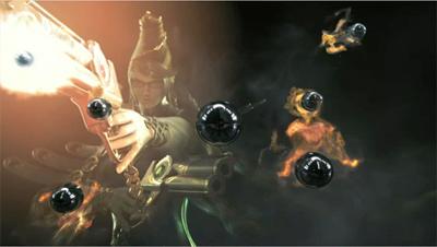 Bayonetta's bullet storm.