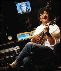 Uematsu with a mandolin